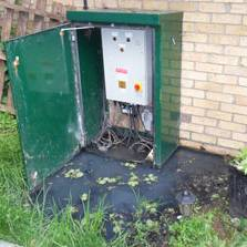 waste water solutions flooded panel